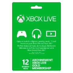 12-month Xbox Live! Gold Card