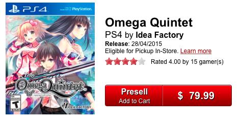 Omega Quintet - 80 MSRP