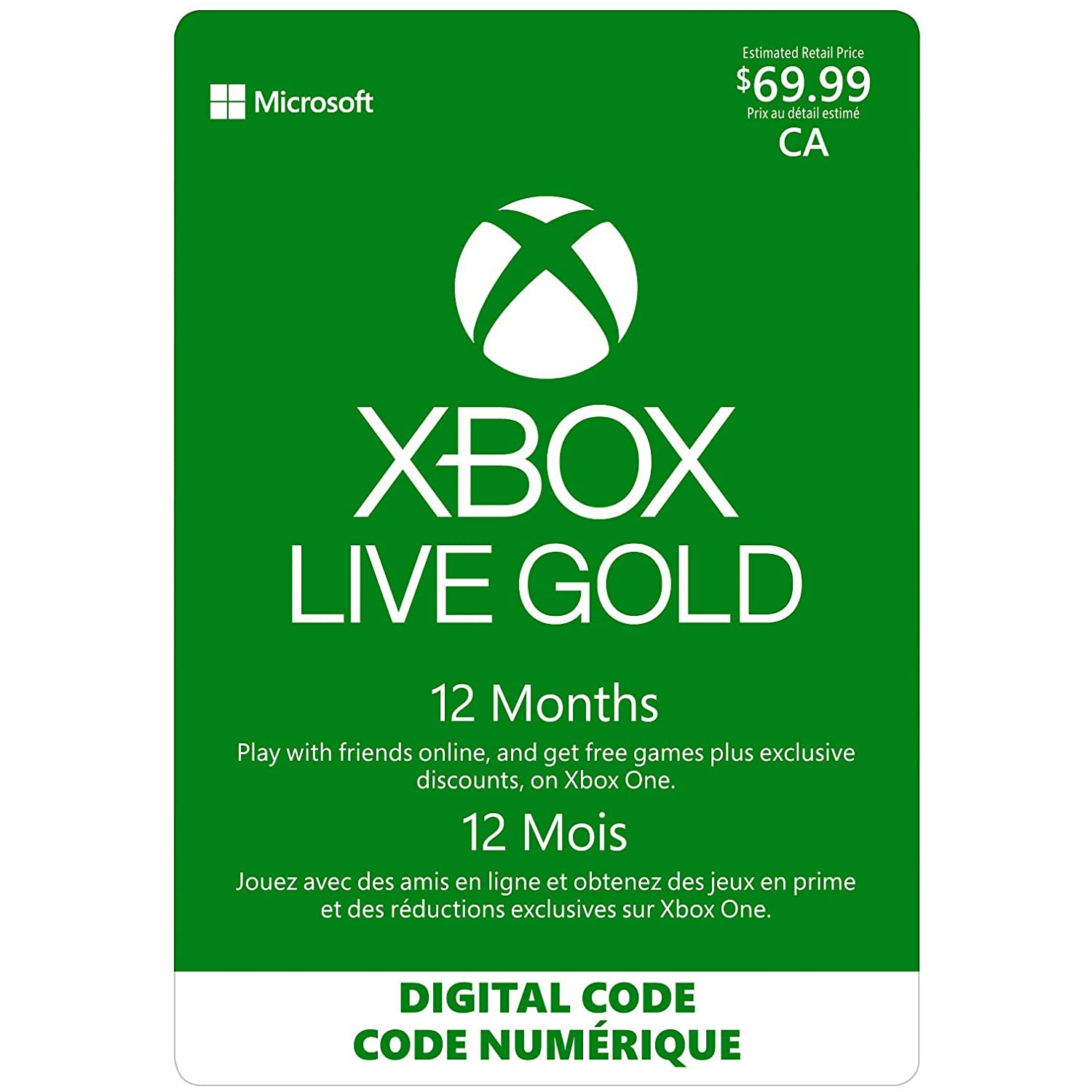 12 Month Xbox Live Gold Card W 15 Gift Card 1 Game Deals Canada